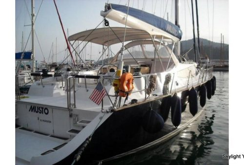 MUSTO, She has 10 guests in 5 double cabins all en-suite;The luxurious and spacious 2 master cabins have queen size beds, own bathrooms, TV, DVD Player, Aircondition and minibar